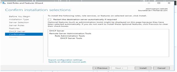 DHCP Server Installation