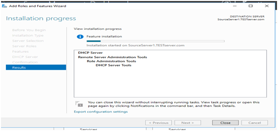 DHCP Server Installation 2