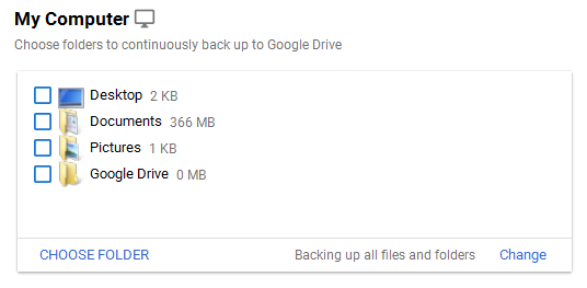 Google Drive folder is added up in the list