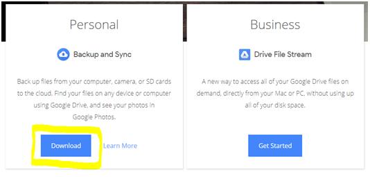 how to setup the Google Drive