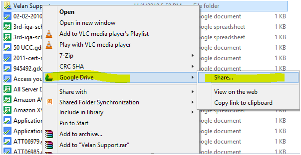 File Sharing on Google Drive