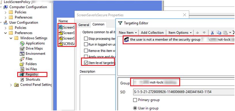 create a domain security group