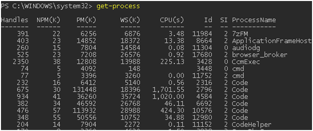 Getting a List of Running Processes