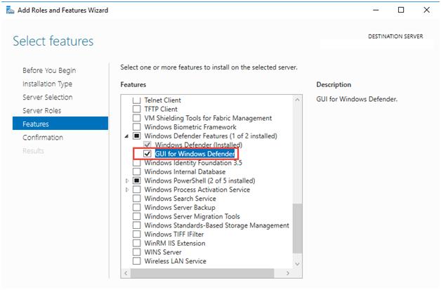 Windows Defender Antivirus GUI