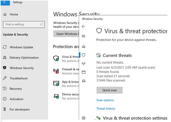GUI in Windows Server 2019